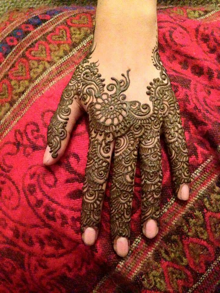 Mehndi Hairstyles Review : Easy mehndi design indian makeup and beauty