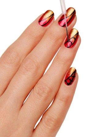 Nail art designs step by step at home 03
