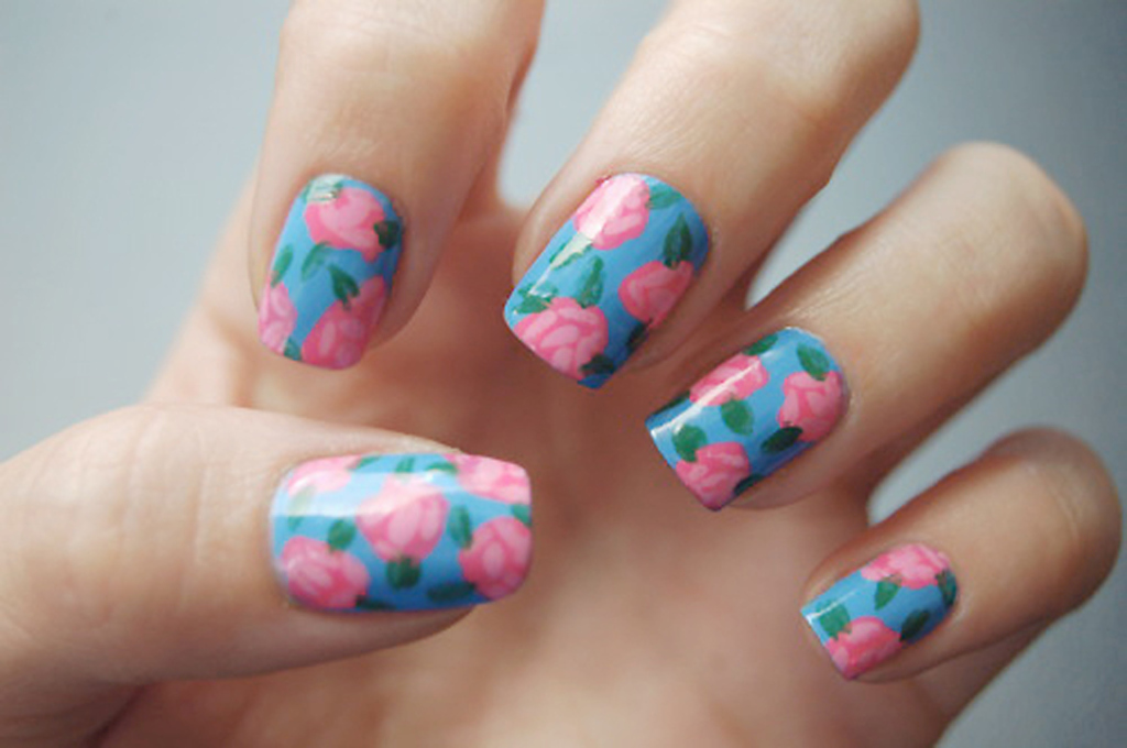 20 Cute Nail Art Designs Inspired By Floral Motifs Indian Makeup