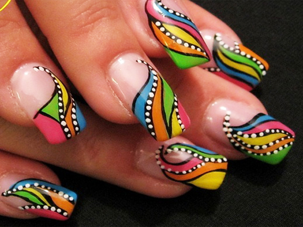 17 Gorgeous Navratri Inspired Latest Nail Art Designs Indian
