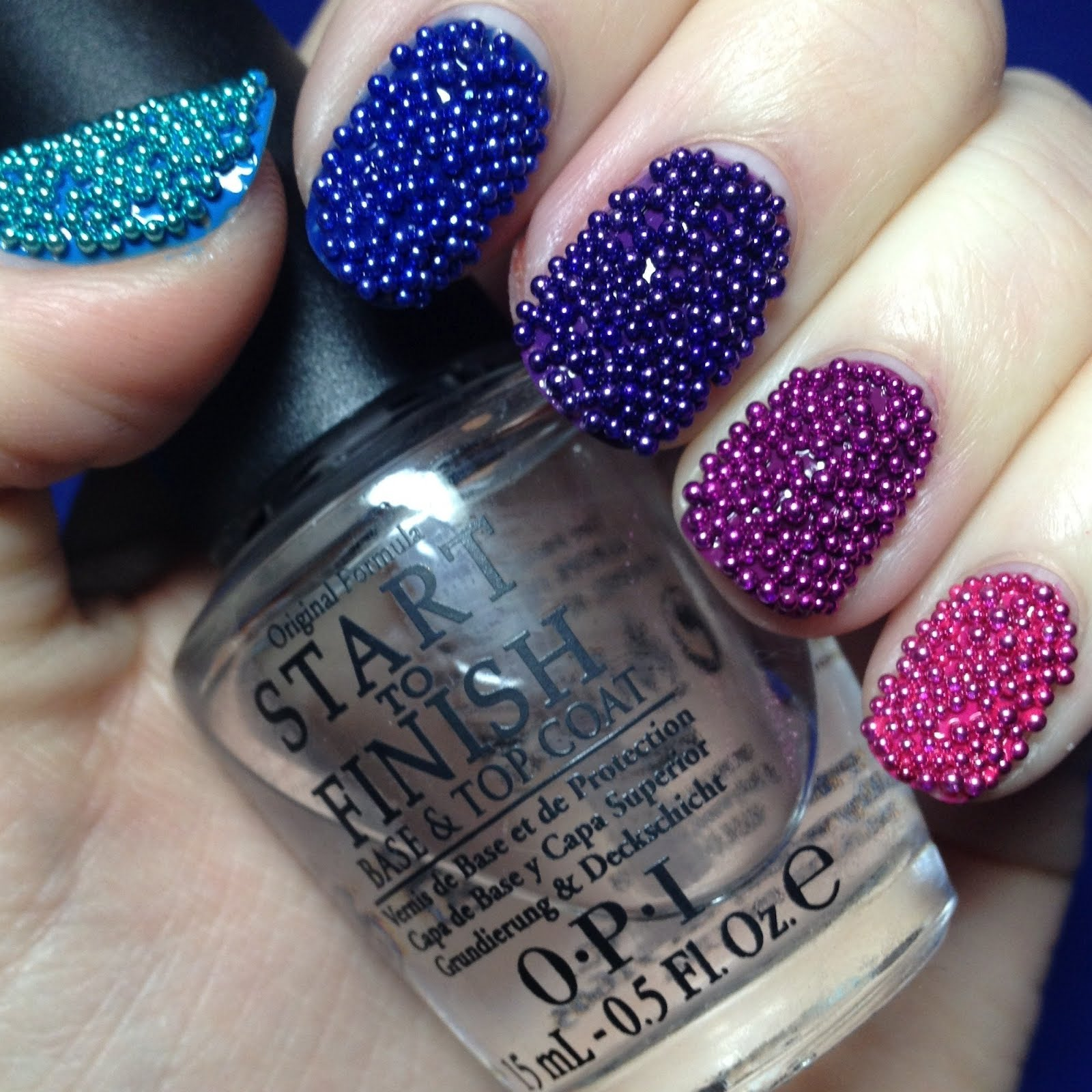How To Do Caviar Nail Art For An Ultimate Navratri Look Indian