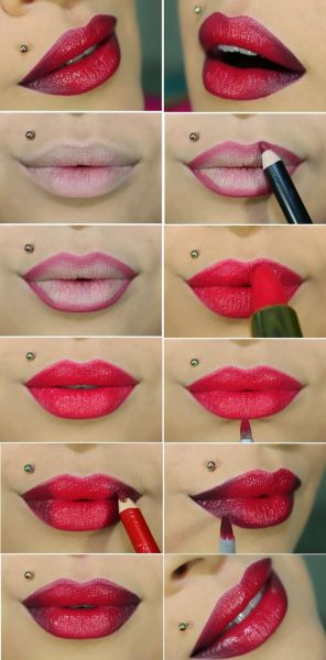 ombre lip makeup 01