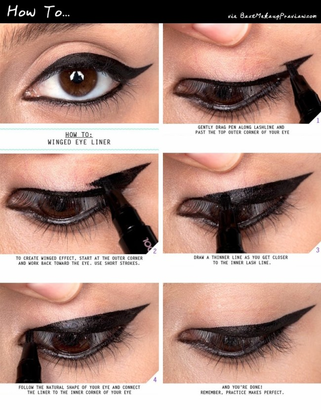 How to apply liquid eyeliner 07