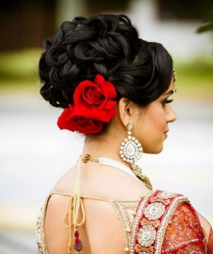 Indian bridal hairstyles 111