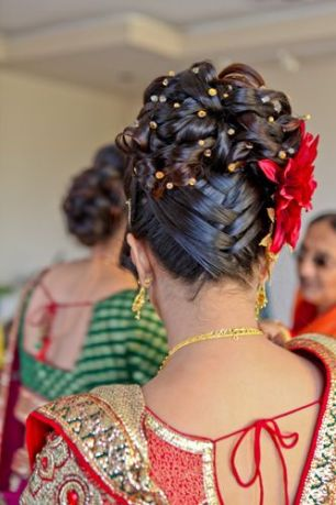 Indian bridal hairstyles 128