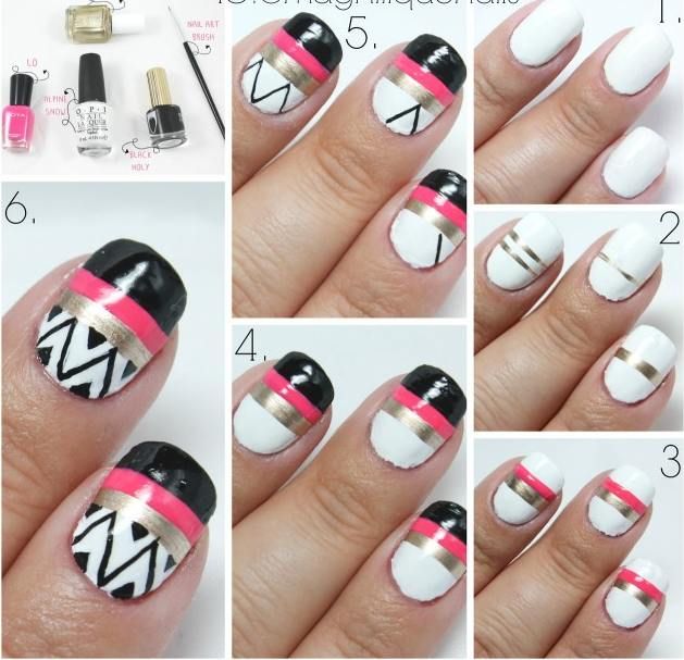 18 Stunning nail art designs for beginners inspired by winter black on nail design ideas, hair at home, nail polish designs easy to do at home, jewelry at home, tattoo at home, makeup at home, nail art wolves, flower at home, manicure at home, nail polish remover at home, nail polish art at home, nail gel at home, halloween at home,