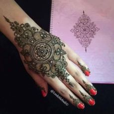 Arabic mehandi designs 25
