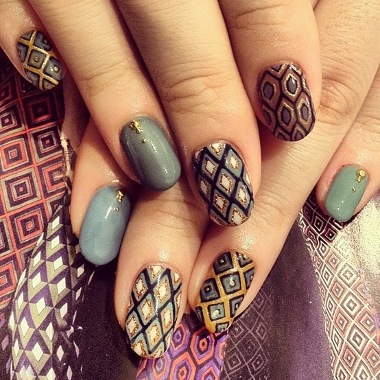 ... 554 × 554 in 20 Vibrant nail art ... - Nail Art 50 Indian Makeup And Beauty Blog Beauty Tips Eye