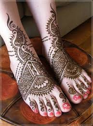 Mehendi designs for feet 01