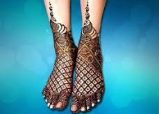 Mehendi designs for feet 14