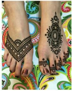 Mehendi designs for feet 15