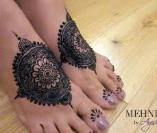 Mehendi designs for feet 18