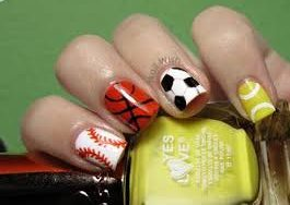 20 Funky Nail Art Designs Inspired By Sports Indian Makeup And