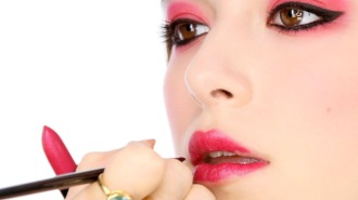 red lipstick and eye makeup 01