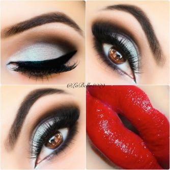 red lipstick and eye makeup 03