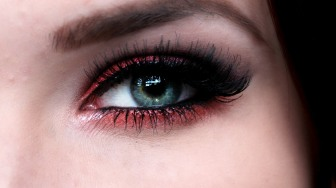red lipstick and eye makeup 05
