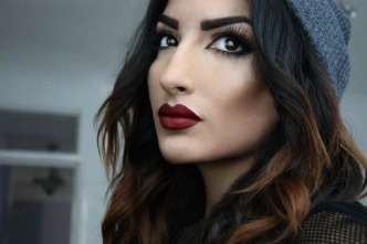 red lipstick and eye makeup 06