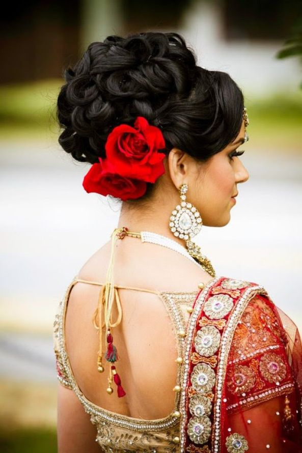 16 latest hairstyles for an indian bride indian makeup and latest hairstyles 08 urmus Gallery