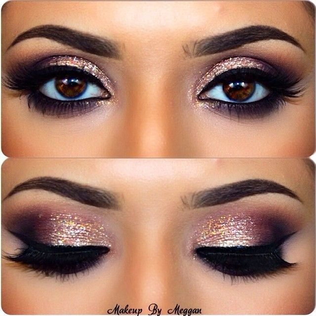 How To Apply Gold Glitter Cut Crease Smokey Eyes For Ny Bash