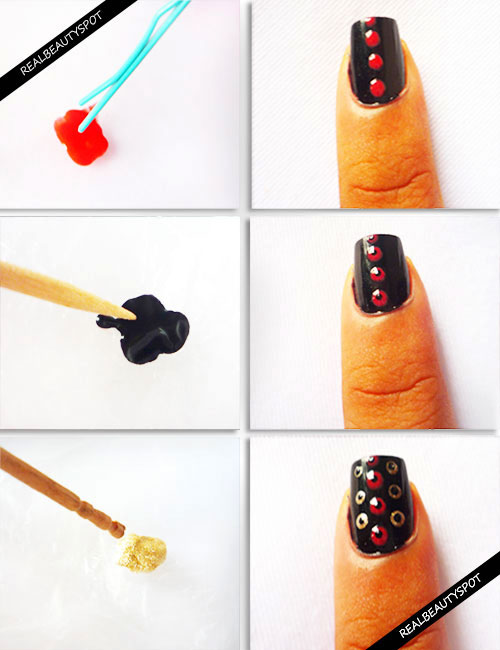 Nail Polish Art With Toothpick