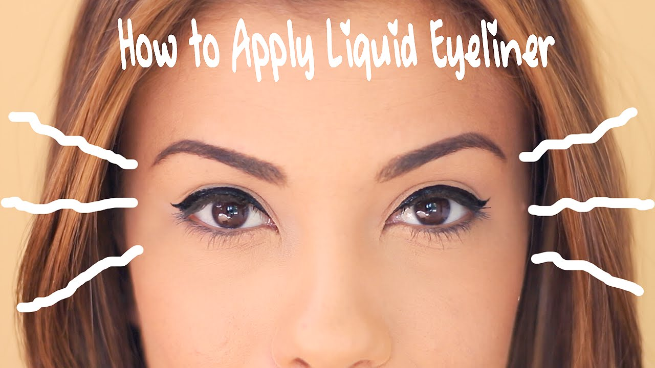 How To Apply Liquid Eyeliner For Beginners Indian Makeup And