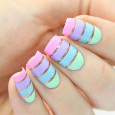 Simple nail art designs 55