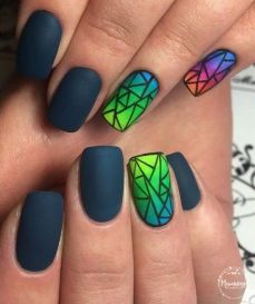 Simple nail art designs 59