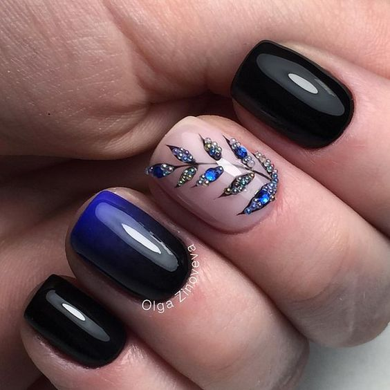 Simple nail art designs 74