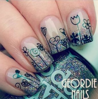 Simple nail art designs 78